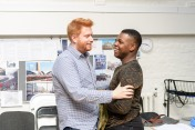 Joe Murphy (Director) and John Boyega (Woyzeck). Woyzeck at The Old Vic, photo by Manuel Harlan