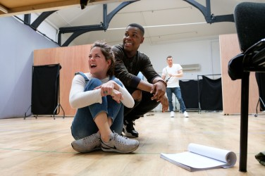 Sarah Greene (Marie) and John Boyega (Woyzeck). Woyzeck at The Old Vic, photo by Manuel Harlan (3)