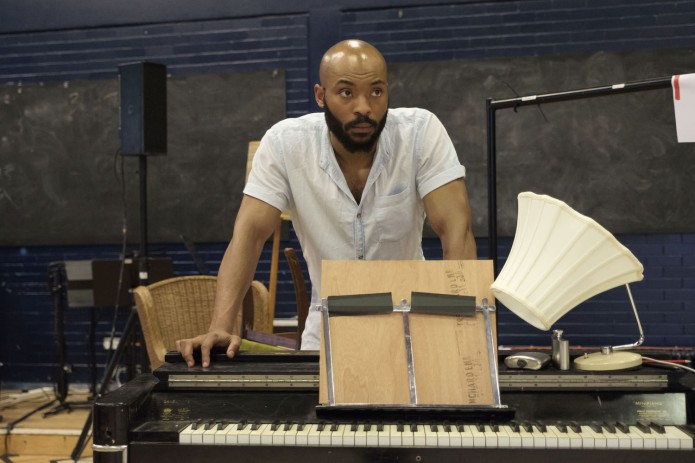Arinzé Kene (Joe Scott) in Girl from the North Country at The Old Vic. Photo by Manuel Harlan