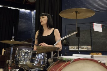 Bronagh Gallagher (Mrs Burke) in Girl from the North Country at The Old Vic. Photo by Manuel Harlan