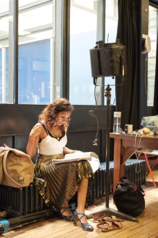 Debbie Kurup (Mrs Neilsen) in Girl from the North Country at The Old Vic. Photo by Manuel Harlan