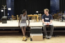 Sheila Atim (Marianne Laine) and Sam Reid (Gene Laine) in Girl from the North Country at The Old Vic. Photo by Manuel Harlan
